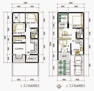 denah rumah minimalis 2 lantai aneka tipe | detiklife