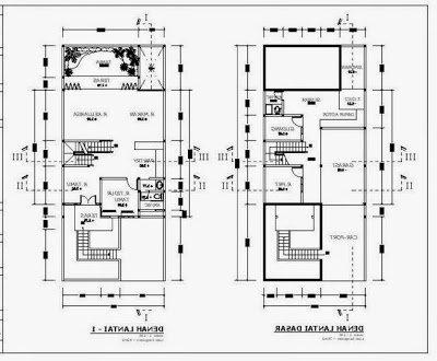 denah rumah minimalis 2 lantai aneka tipe   detiklife