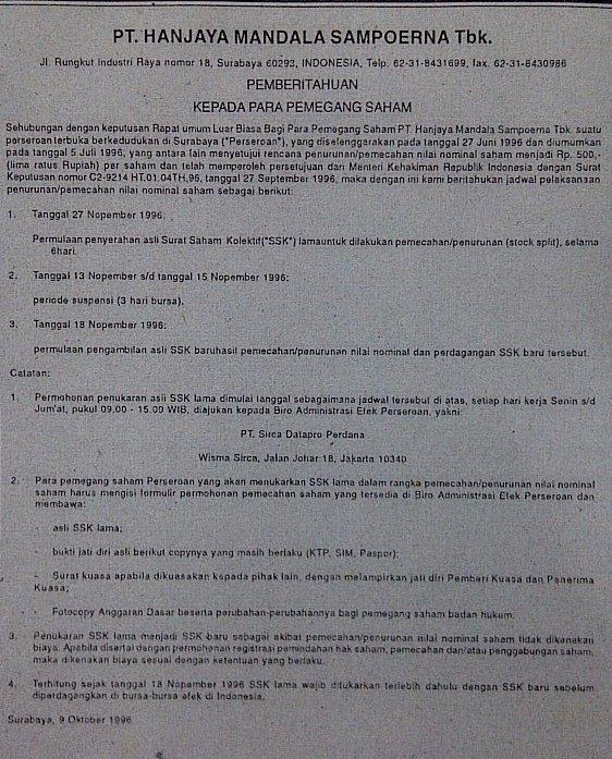 Contoh Surat Pemberitahuan Surat Resmi