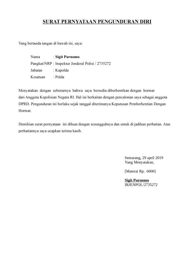 22+ Contoh surat pengunduran diri ekstrakurikuler paskibra terbaru terbaru