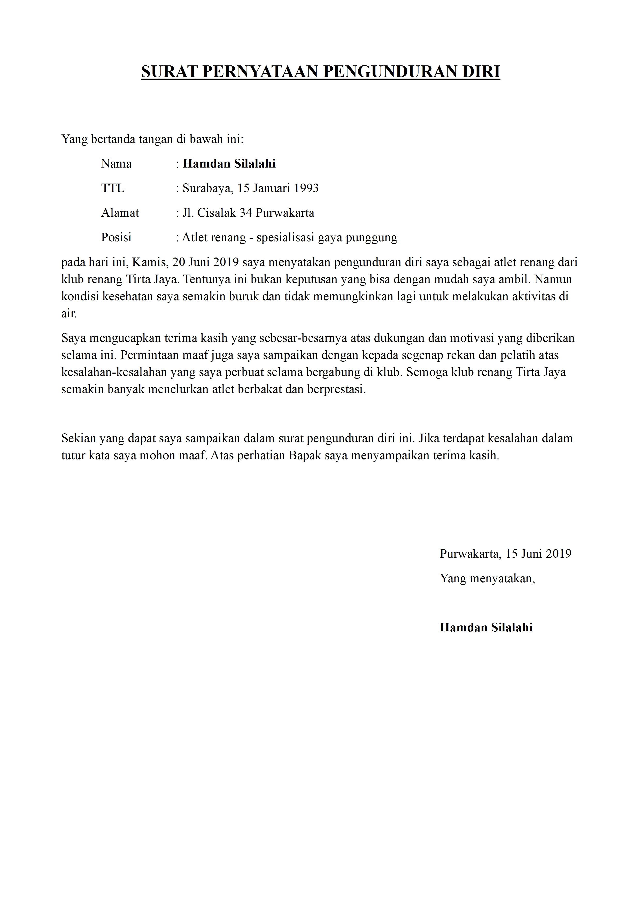 Contoh Surat Detiklife Page 6 Of 34
