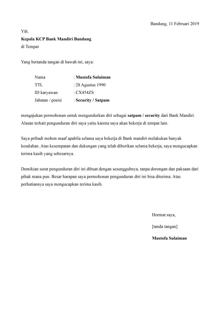Contoh Surat Mutasi Security Contoh Surat