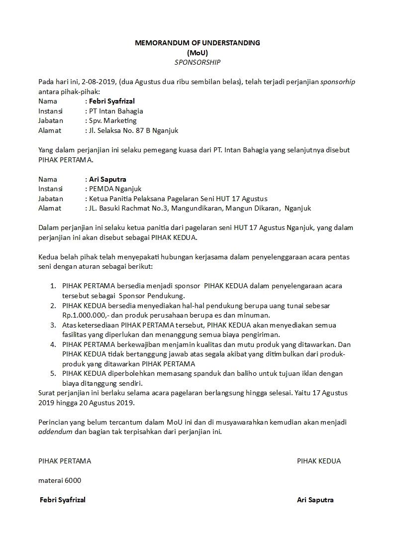 Surat Perjanjian Detiklife Page 7 Of 20